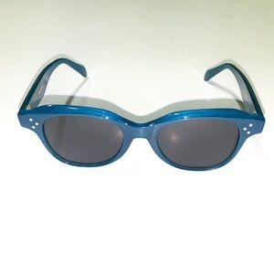 Celine CL41457 MR8 Blue Square Sunglasses